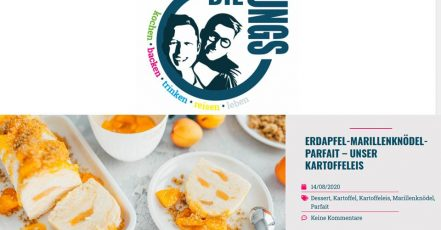 Bild: Screenshot des Blogs 'Die Jungs kochen und backen'