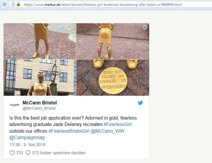 Screenshot Artikel auf merkur.de / 15.05.2018