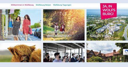 Bild: Screenshot wolfsburg-erleben.de – Die interaktiven Flip-Cards zeigen die Facetten der Reise-, Freizeit- und Tagungs-Destination Wolfsburg