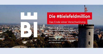 Screenshot: Die #Bielefeldmillion – Das Ende einer Verschwörung (http://www.bielefeldmillion.de/zum-wettbewerb/)