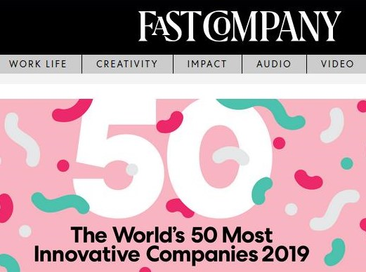 Screenshot: Fast Company MIC Ranking https://www.fastcompany.com/most-innovative-companies/2019 / 03.03.2019
