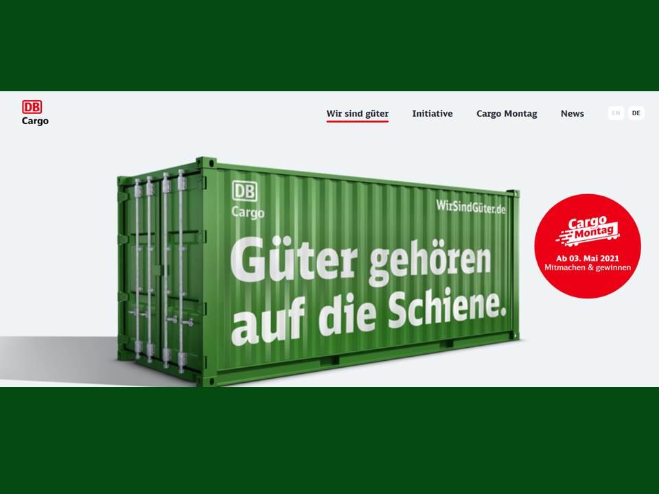 Bild: Screenshot der Kampagnen-Website WirSindGüter.de von DB Cargo (Screenshot v. 16.04.2021)