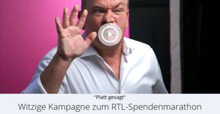 Screenshot der Kampagnen-Website RTL - Wir helfen Kindern. Wolfram Kons drückt sich für den guten Zweck die Nase platt.(Link: https://wirhelfenkindern.rtl.de/cms/index.html)