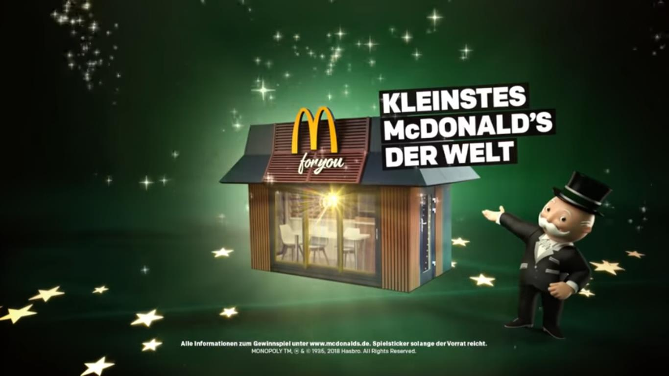 "Screenshot: McDonald's Video ""Das wird ein Fest"" https://www.youtube.com/watch?v=14l-Aus1NSA&feature=youtu.be / 17.11.2018"