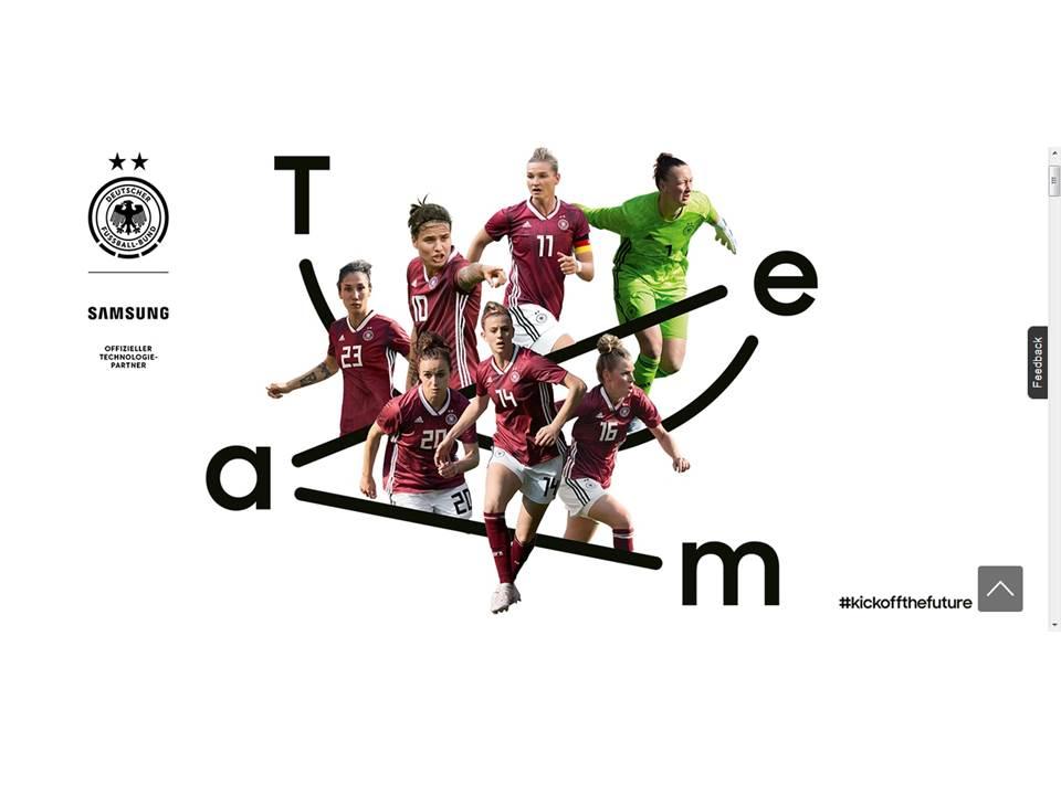 Screenshot:  Samsung Kampagnen-Hub zur Frauenfußball-WM 2019 (https://www.samsung.com/de/aboutsamsung/wm2019/)