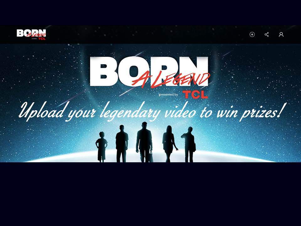 Screenshot: TLC Kampagne Born a Legend_Landingpage