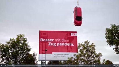 """Screenshot: Video """"Besser mit dem Zug pendeln"""" von DB Regio"""