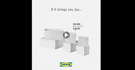 Screenshot: Video von IKEA Singapur auf Facebook https://www.facebook.com/IKEASingapore/videos/332437934146643/