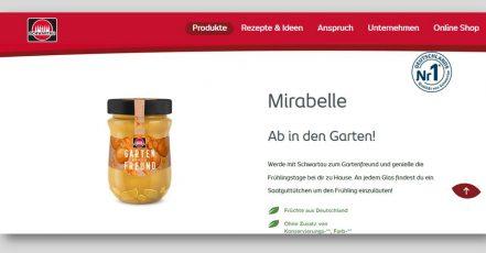 """Screenshot: Frühjahrs-Edition """"Gartenfreund"""" von Schwartau (Quelle: schwartau.de / 16.04.2020)"""