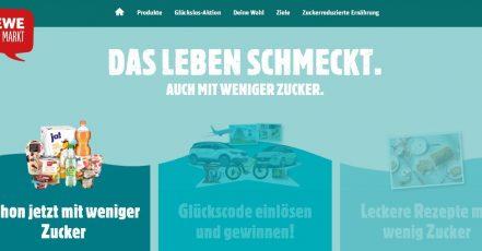 Screenshot: https://wenigerzucker.rewe.de/ 11.01.2019