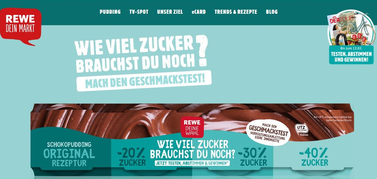 Screenshot: https://wenigerzucker.rewe.de/ 12.01.2018