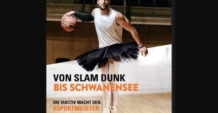 Bild: Von Slam Dunk bis Schwanensee - Die Sportmeister Kampagne der VIACTIV. (Bildrechte: VIACTIV Krankenkasse | Fotograf: VIACTIV/getty images)
