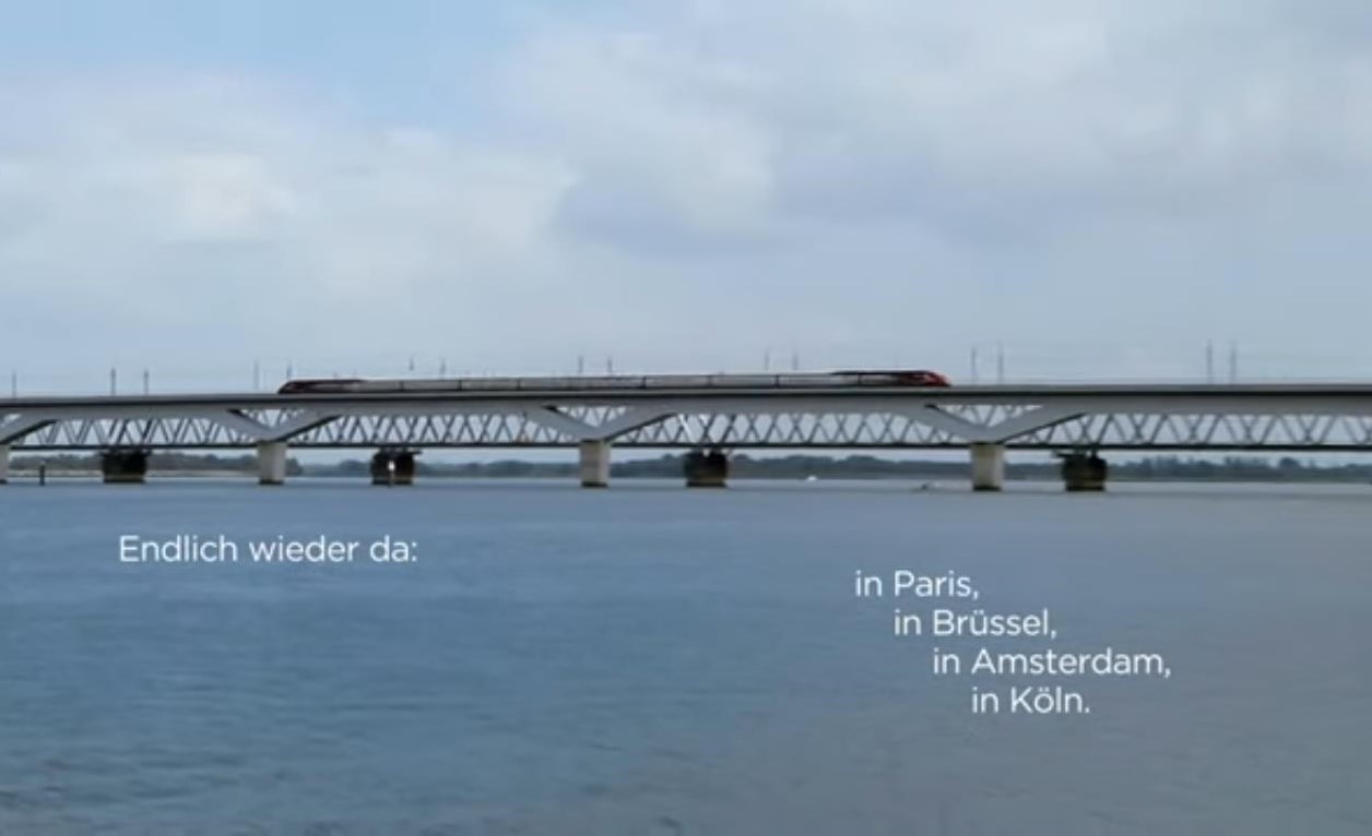 Screenshot aus dem Thalys Kampagnen-Video #ReunitedAtLast auf Youtube