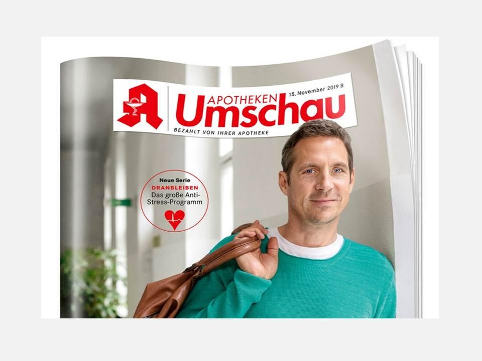 Titelbild Apotheken Umschau Novemberausgabe B 2019. (Quelle / Copyrights: Wort&Bild Verlag GmbH & Co. KG)