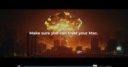 "Screenshot aus dem CleanMyMac Kampagnenvideo """"The Blue Wire"" (Quelle: vimeo.com https://vimeo.com/mjoelk/review/519043774/847007179c?sort=lastUserActionEventDate&direction=desc"