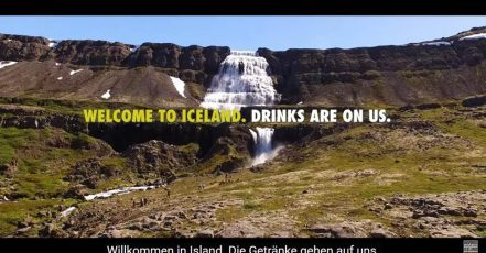 "Screenshot: Video ""Introducing #Kranavatn from Iceland | Drinks are on us"" (https://www.youtube.com/watch?v=Miuj2V2fkDw)"