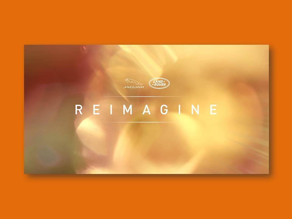 """Titelbild: """"Reimagine"""" Visual – Jaguar Land Rover geht in die Zukunft, mit modernem Luxus und unverwechselbarem Design. CEO Thierry Bolloré stellt neue globale Strategie für den Autohersteller vor."""