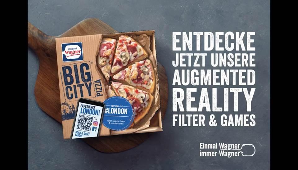 Screenshot: Video zur Wagner BigCity Pizza AR-Aktion