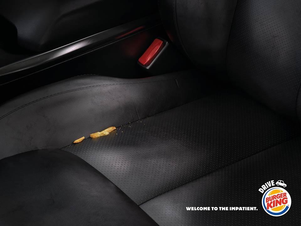 Eines der insgesamt vier Kampagnen-Motive: Welcome to the impatient. Von: Burger King France. Agentur: Buzzman