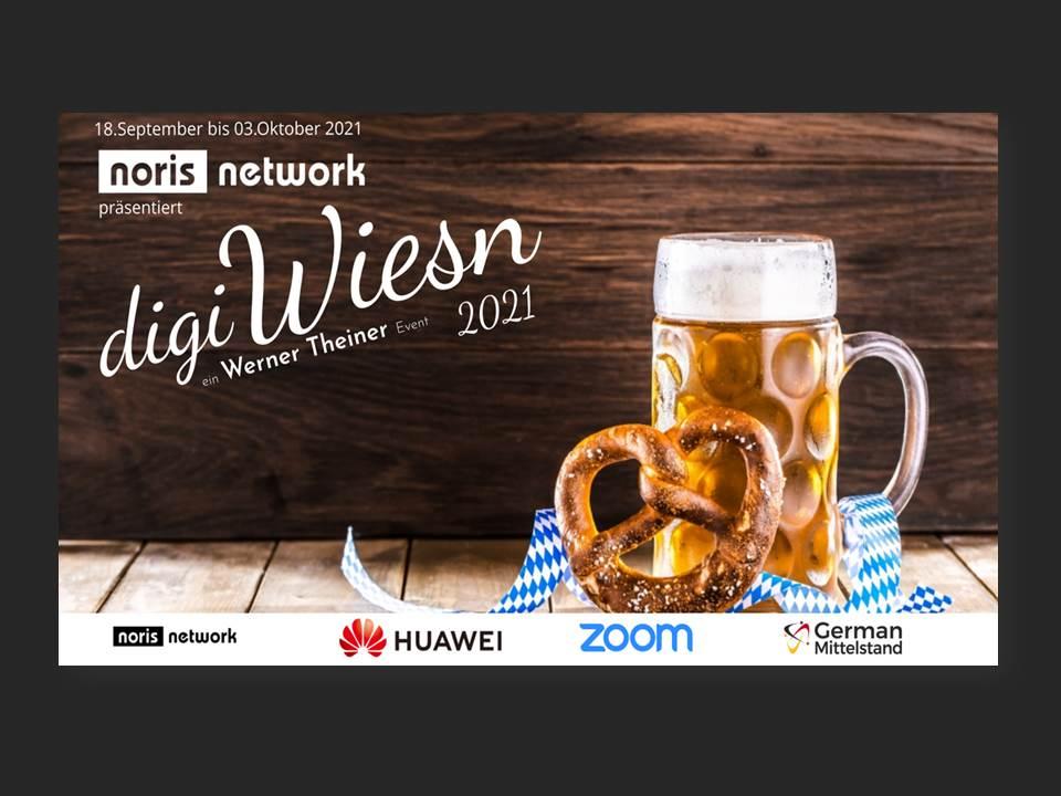 Bild: digiWiesn 2021 mit Hauptsponsor noris network (Bildrechte: noris network AG)