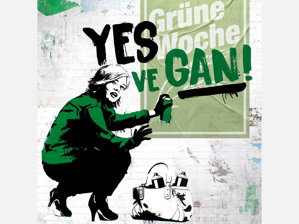 Bild: Für die Internationale Grüne Woche 2021 macht iglo Ministerin Klöckner zur veganen Aktivistin