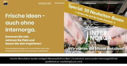 Screenshot: https://www.sander-internorga2020.de/